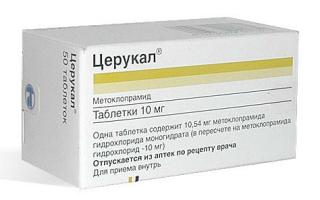 Церукал для детей: инструкция по применению, дозировка при рвоте, таблетки и уколы